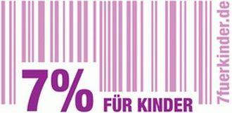 Logo der Initiative '7% für Kinder'.